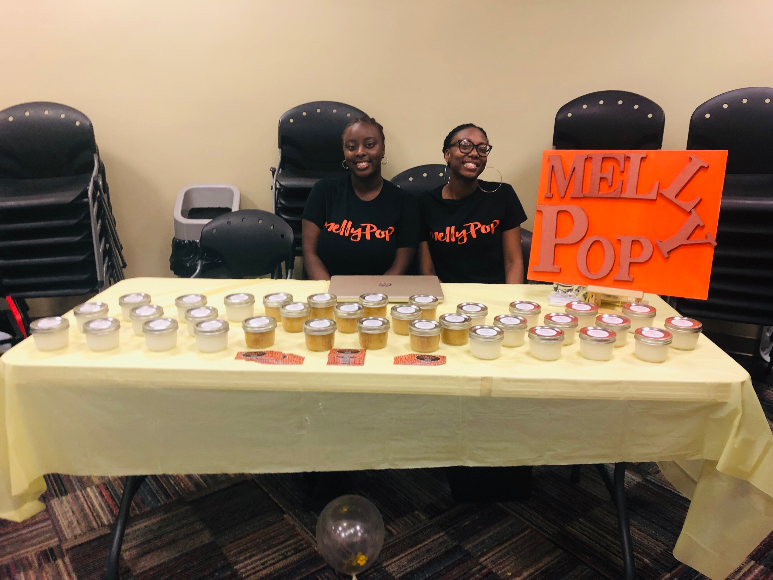 - Here is @mellypop with their natural scrubs and facial cleansers!