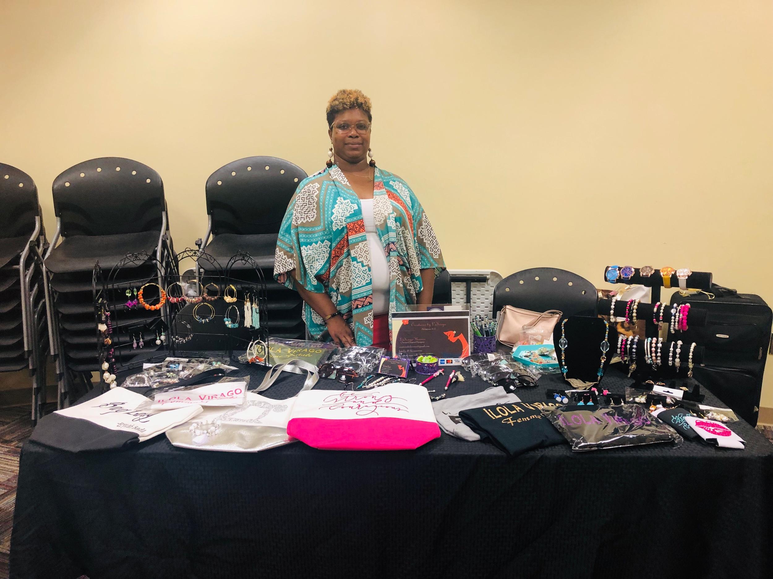 - Here's @creationsbylatonya with her custom/hand made jewelry!