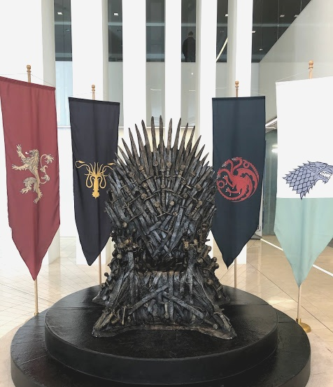Here's your chance to sit in the Iron Throne. It's in the lobby of AT&T's Whitacre Tower.