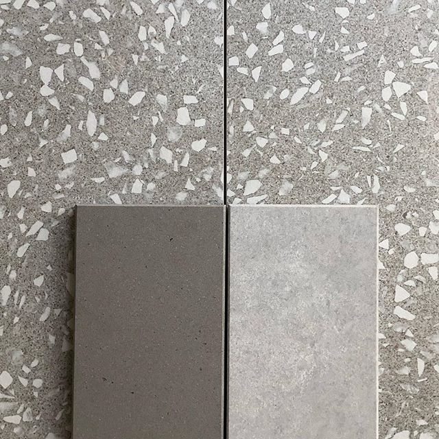 Making some tough decisions here. We love the new line of @caesarstoneus concrete finishes. The honed textures are just perfect. . . #caesarstone #texture #material #terrazzo #quartz #bridgehouse #losangeles #architecture #danbrunnarchitecture