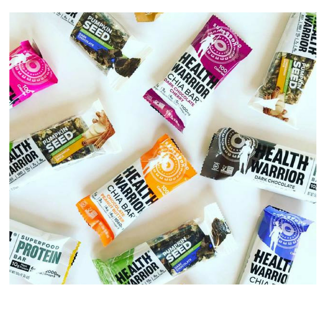 Refuel + stay nourished with delicious Chia Bars from Health Warrior.