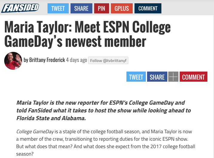 Maria Taylor: Meet ESPN College GameDay's newest member - Fansided.com
