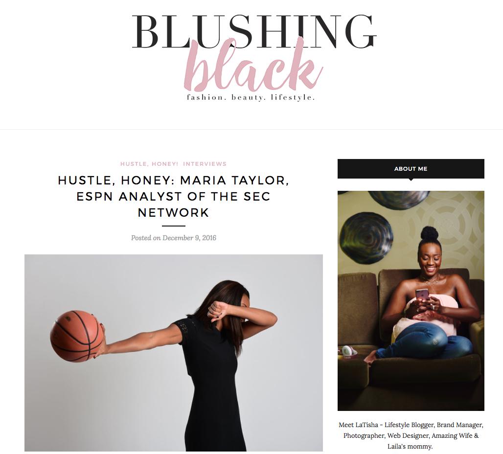 HUSTLE, HONEY: MARIA TAYLOR, ESPN ANALYST OF THE SEC NETWORK - BlushingBlack.com