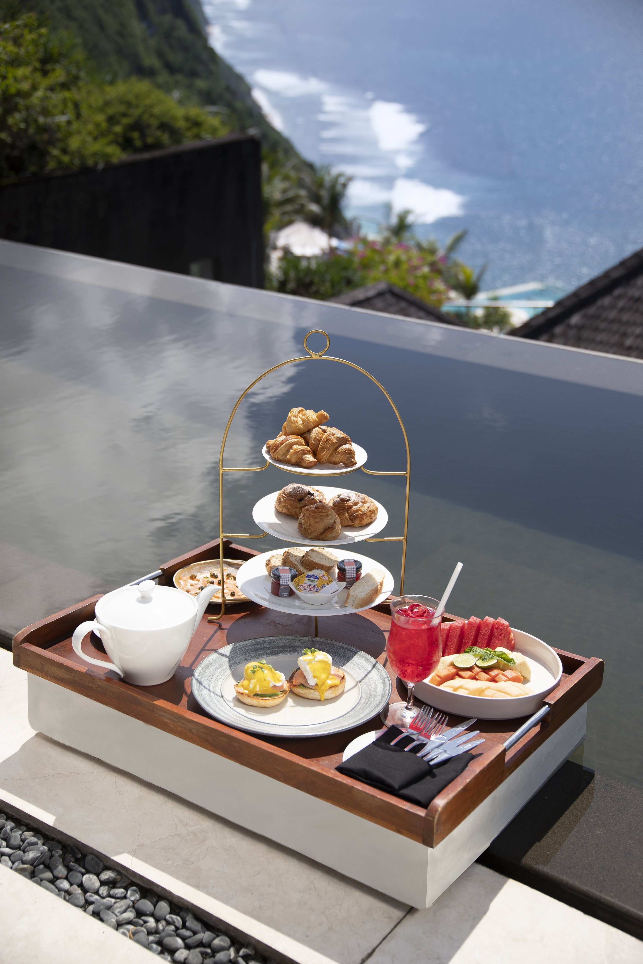 Breakfast with a View - Start off the day in style with a floating breakfast in the sky pool at sunrise. General Manager Brenden Peace suggests following this up with a range of activities including a visit to The Spa to be pampered by a two hour ritual or, if you're feeling particularly active, enjoying a friendly game of tennis at the resort's own tennis court.