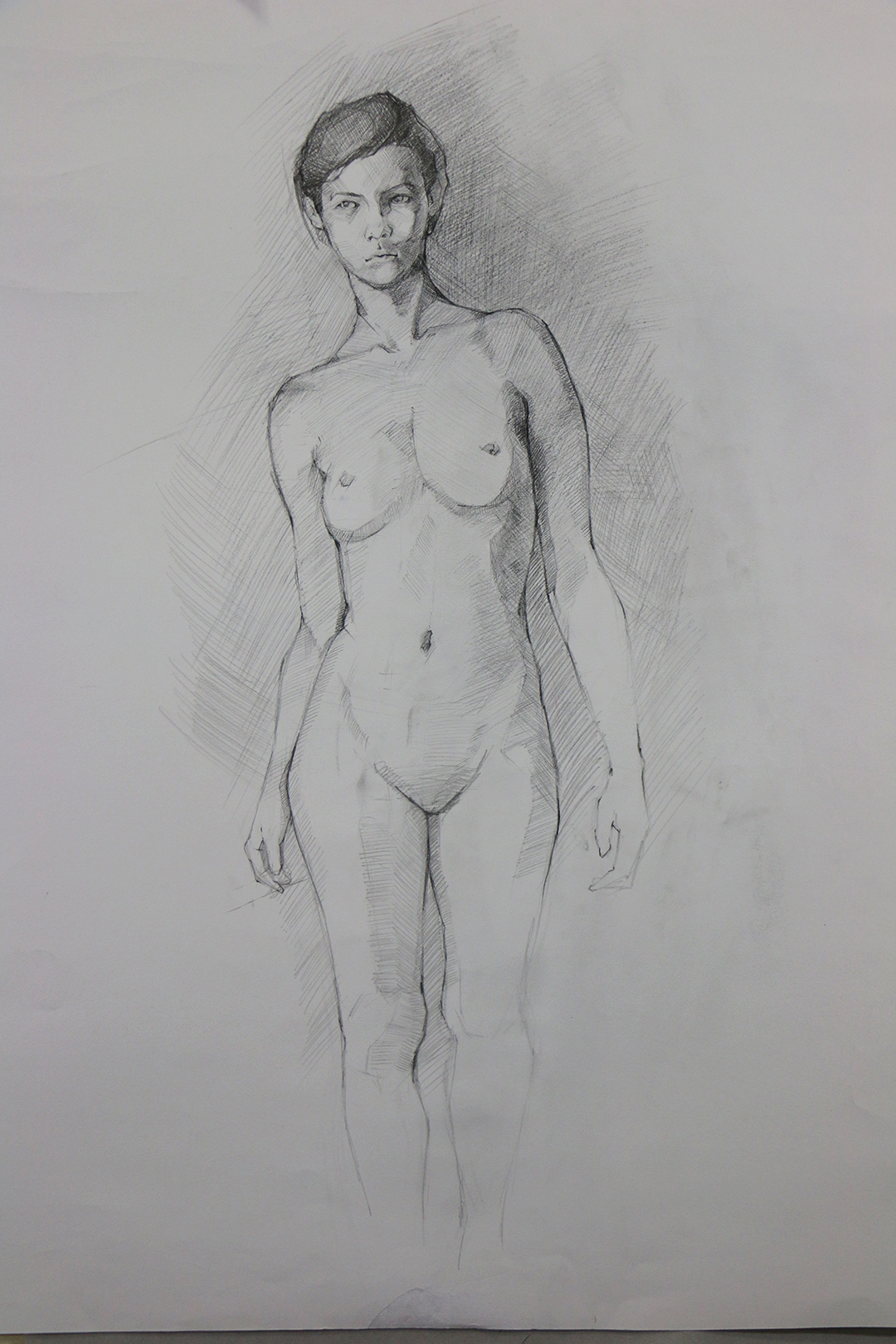 "Life Drawing, 18""X24"", Graphite pencil on paper"
