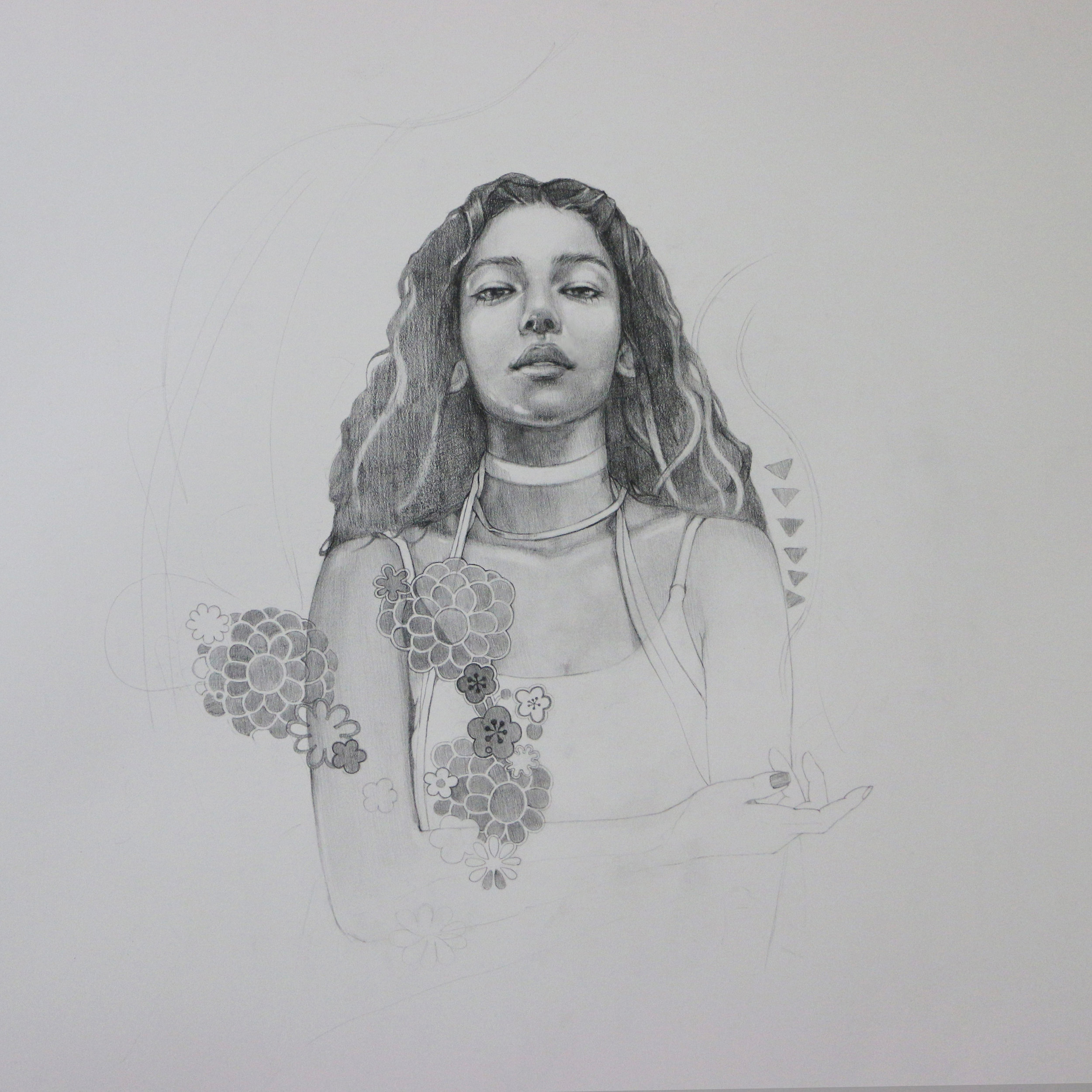 "22""x22"" pencil on arches"