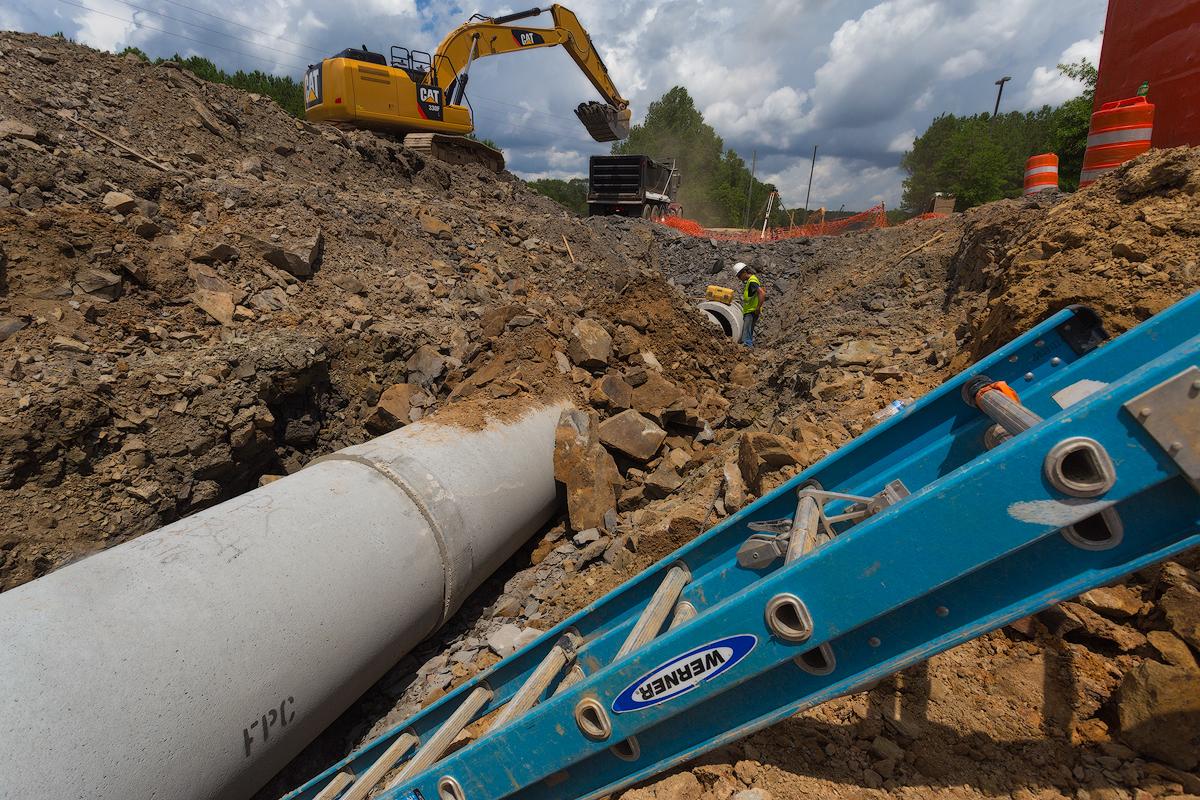 Looking Down HWY 150 Pipeline Installation web.jpg