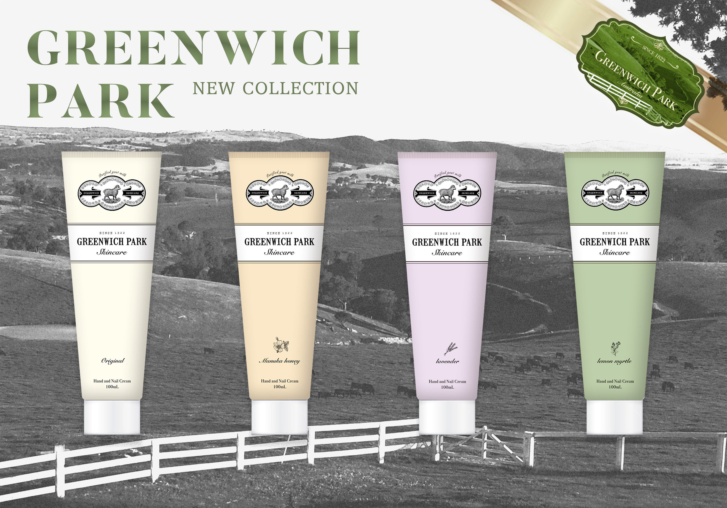 Commercial Packaging </br>GREEN PARK HAND CREAM