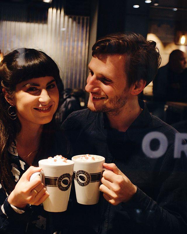 Cheers Babe! ☕️❤️⚡️ Love you my blue-eyed soul! 🖤 . . . #coffee #coffeelover #couple #love #couplegoals #projects #cheers #mondaymotivation #mondaymood #iloveyou #hamburg #internationalcouple #frenchgirl #russianboy #loveisintheair #postvalentinespost #tothemoonandback #amour #partnerincrime #vscofilter #vsco #vscocam #beautiful #yalublutebya