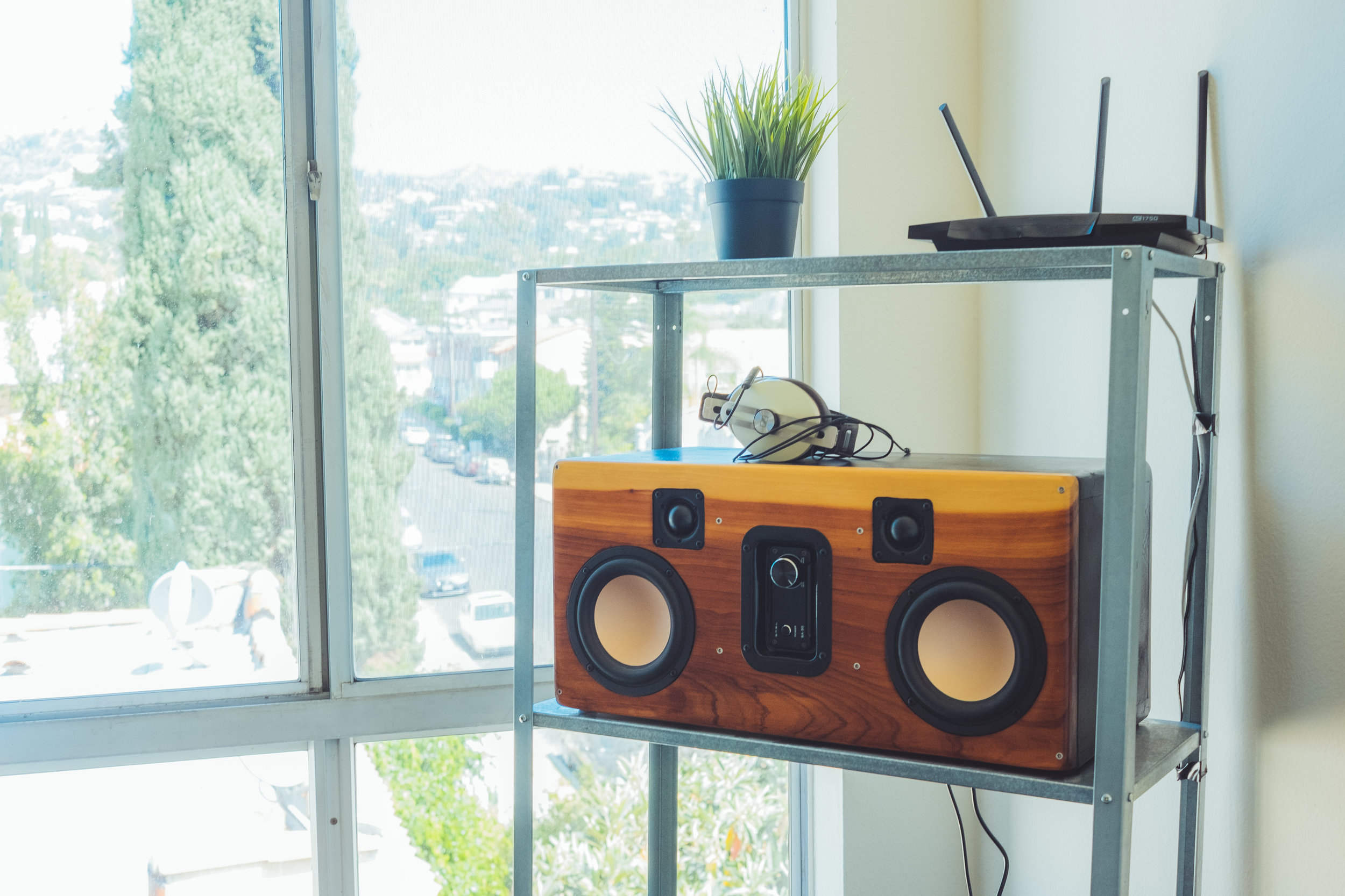 the crate - designed and built my own sound system