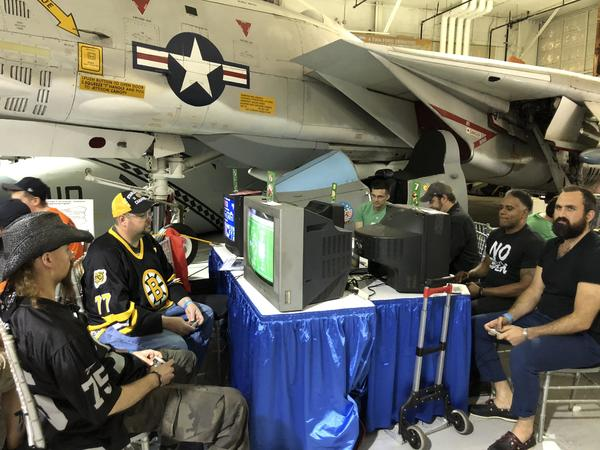Playing Tecmo under a jet.