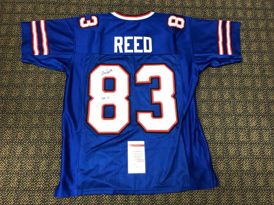 Autographed Andre Reed jersey - Signed by Hall of Famer Andre Reed.