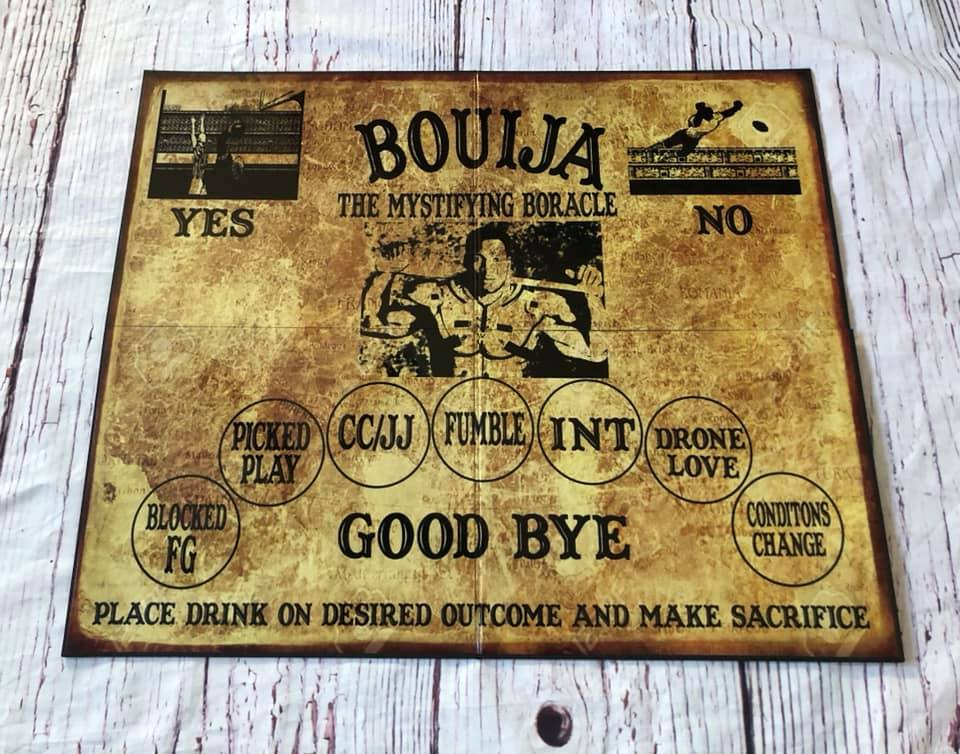 Bouija board game - Make a sacrifice to the Tecmo Gods with this one of a kind Bouija board game.