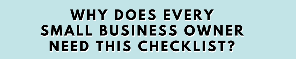Two Girls and a Laptop. Small Business Checklist. Buy Now.