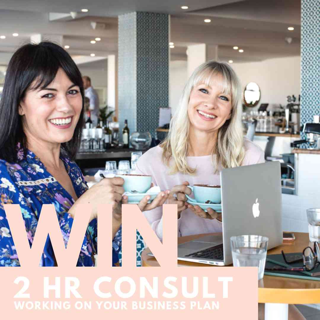 WIN A BUSINESS PLAN REVIEW WITH US! - To celebrate the launch, we're giving away a FREE 2 HOUR CONSULT* with Two Girls and a Laptop to review your business plan with you!