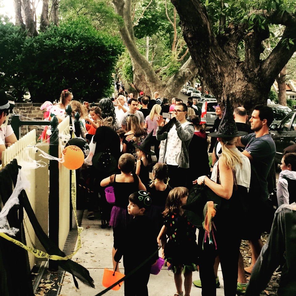 One of Mosman's most popular streets (which we won't name) on Halloween.