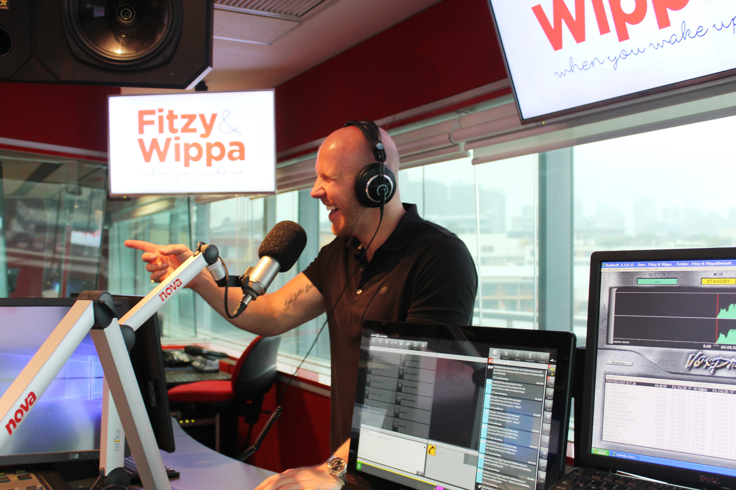 Matt de Groot is used to being stitched up by Fitzy and Wippa, but always manages to look on the bright side!