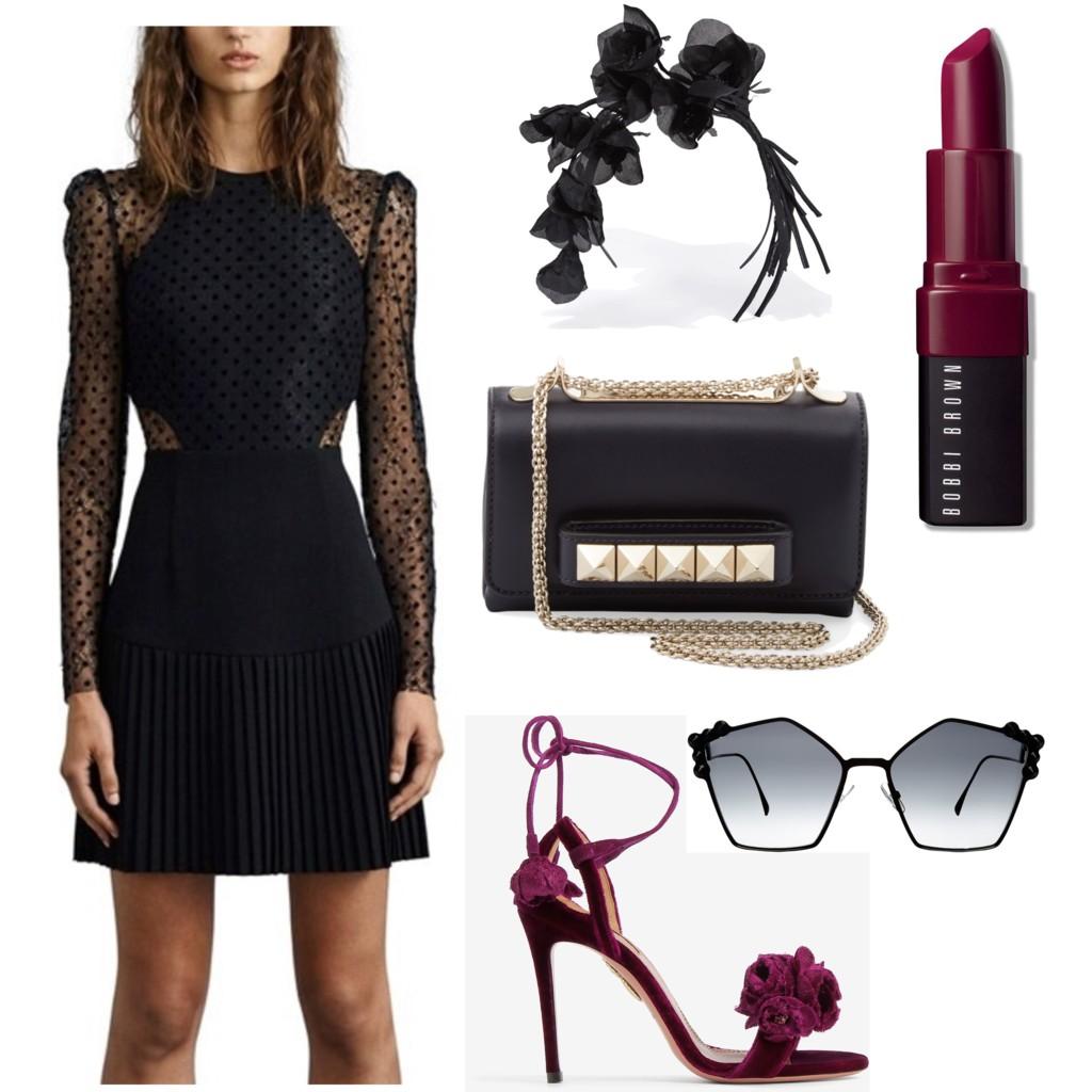 "Dress: Rebecca Valance ""Gabriella"" Spot Lace Mini: Available now at the Mosman store.  Fascinator: Ann Shoebridge."