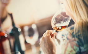 Drinking - A well mannered person always holds their glass by the stem. This also applies to red wine.