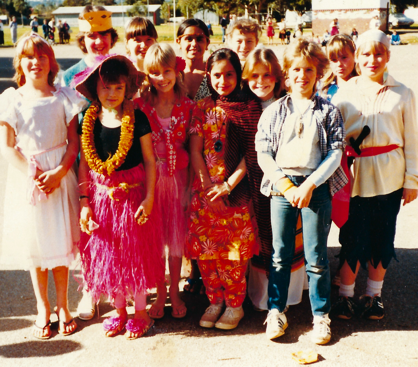 Arriving in Australia at the age of eight, Nirmal spoke no English. She is pictured above with school friends in Adelaide in the 1980's.
