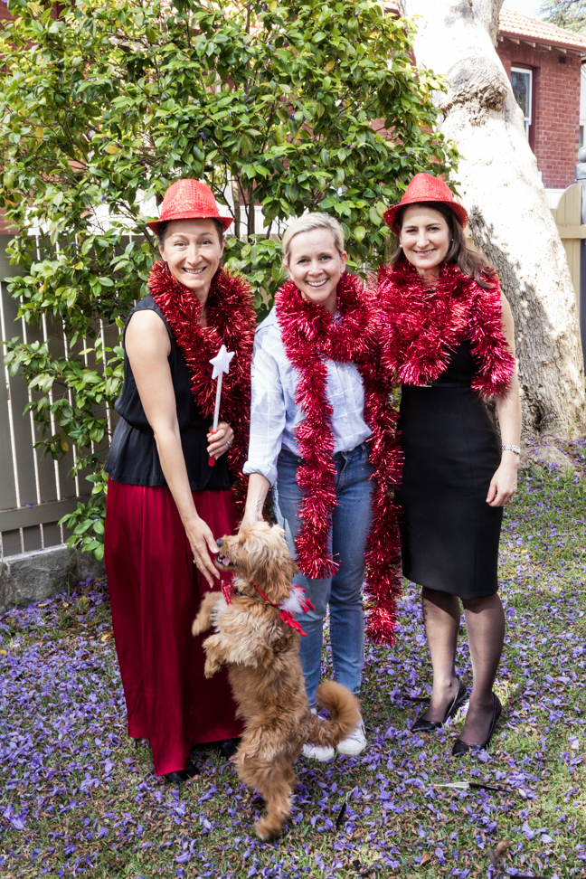 Pam Longstaff (far right) with Prince Albert St residents Diana Rampton and Christina Ludwigson.
