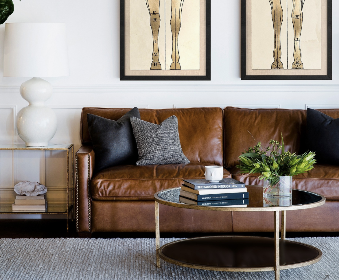 A rug, coffee table, stylish lighting and side tables can make all the difference in small spaces.  Image:   cocorepublic.com.au
