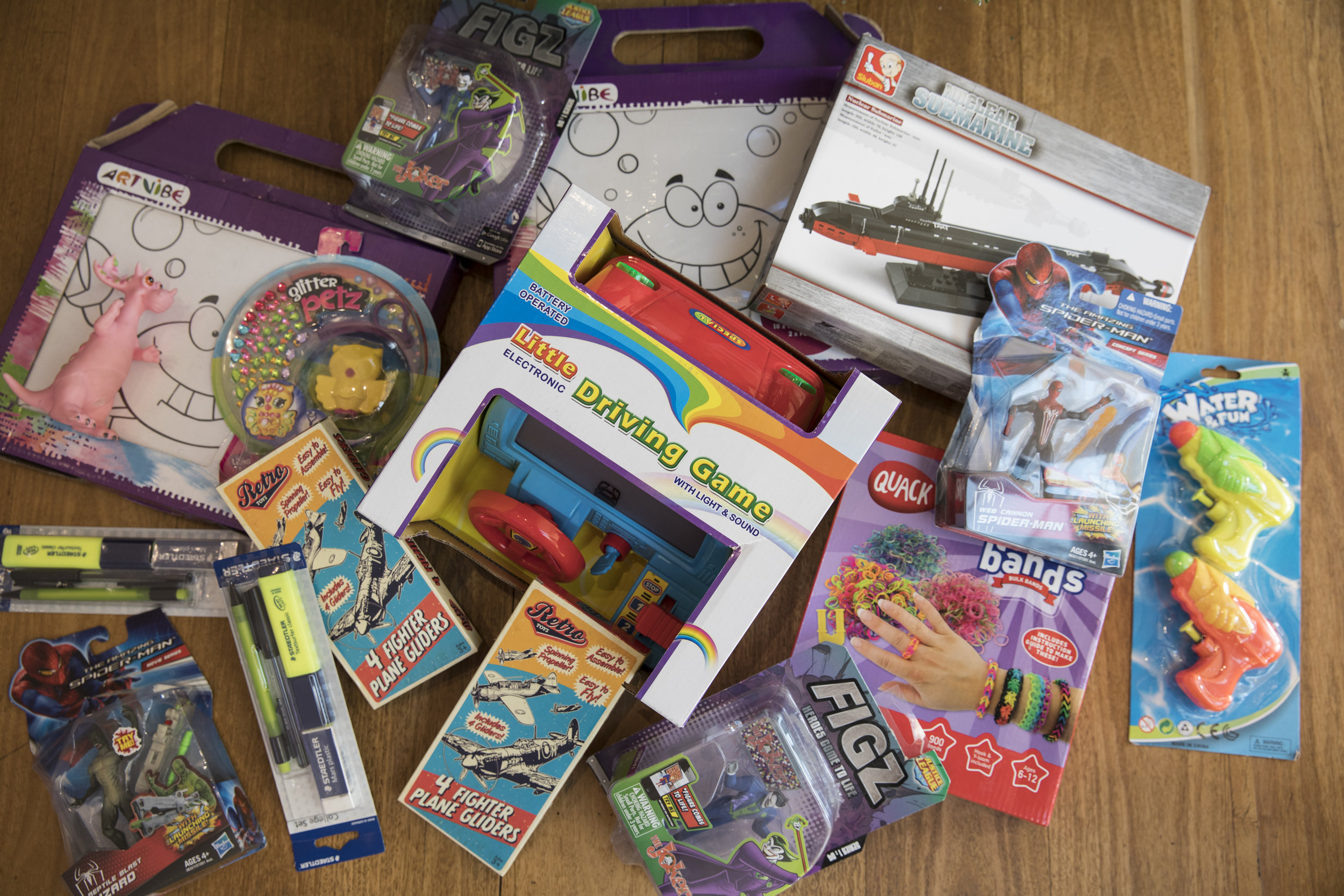 Spit Junction Newsagency - A swag of gifts (just a few of them pictured here) for younger and older children, including stationary and pen sets, action figures and art supplies valued at more than $250.