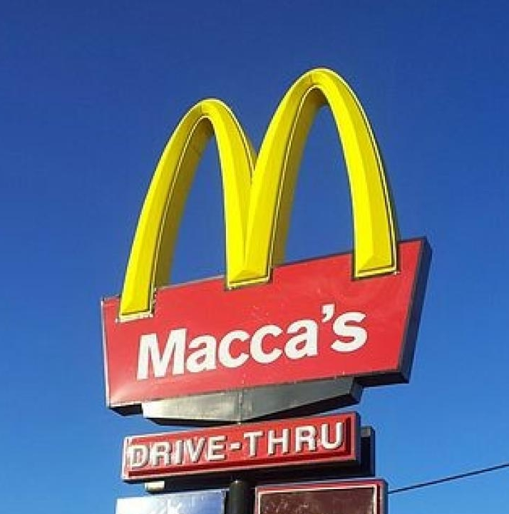10. Maccas - We love shortening words here in Australia. Things are much easier that way. So, Darren is Dazza, Sharon is Shazza, McDonalds is Maccas. Get it?