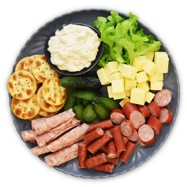 2. CHEESE and kabana - There's nothing quite like cheese, kabana, gherkins, some French Onion dip and Jatz on a party platter. Agree?