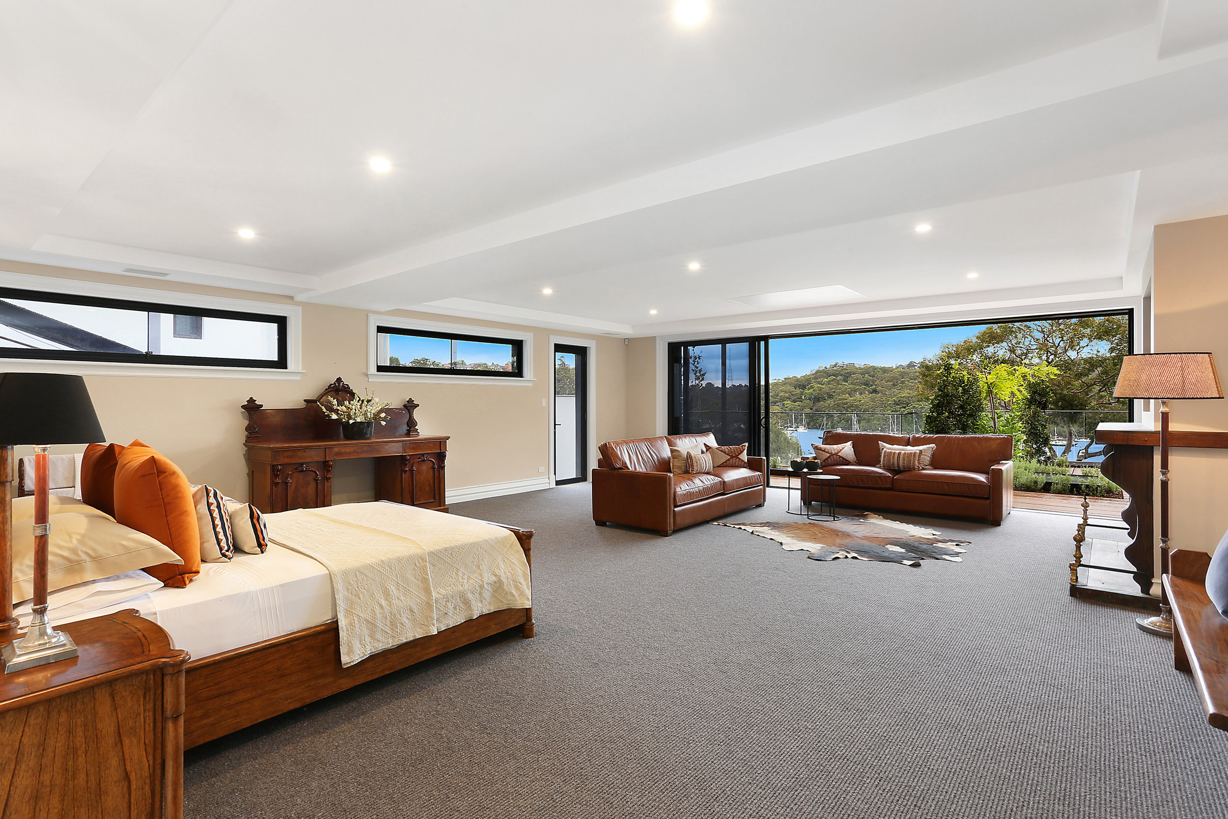 """The master bedroom can only be described as """"palatial"""", says Michael Coombs."""