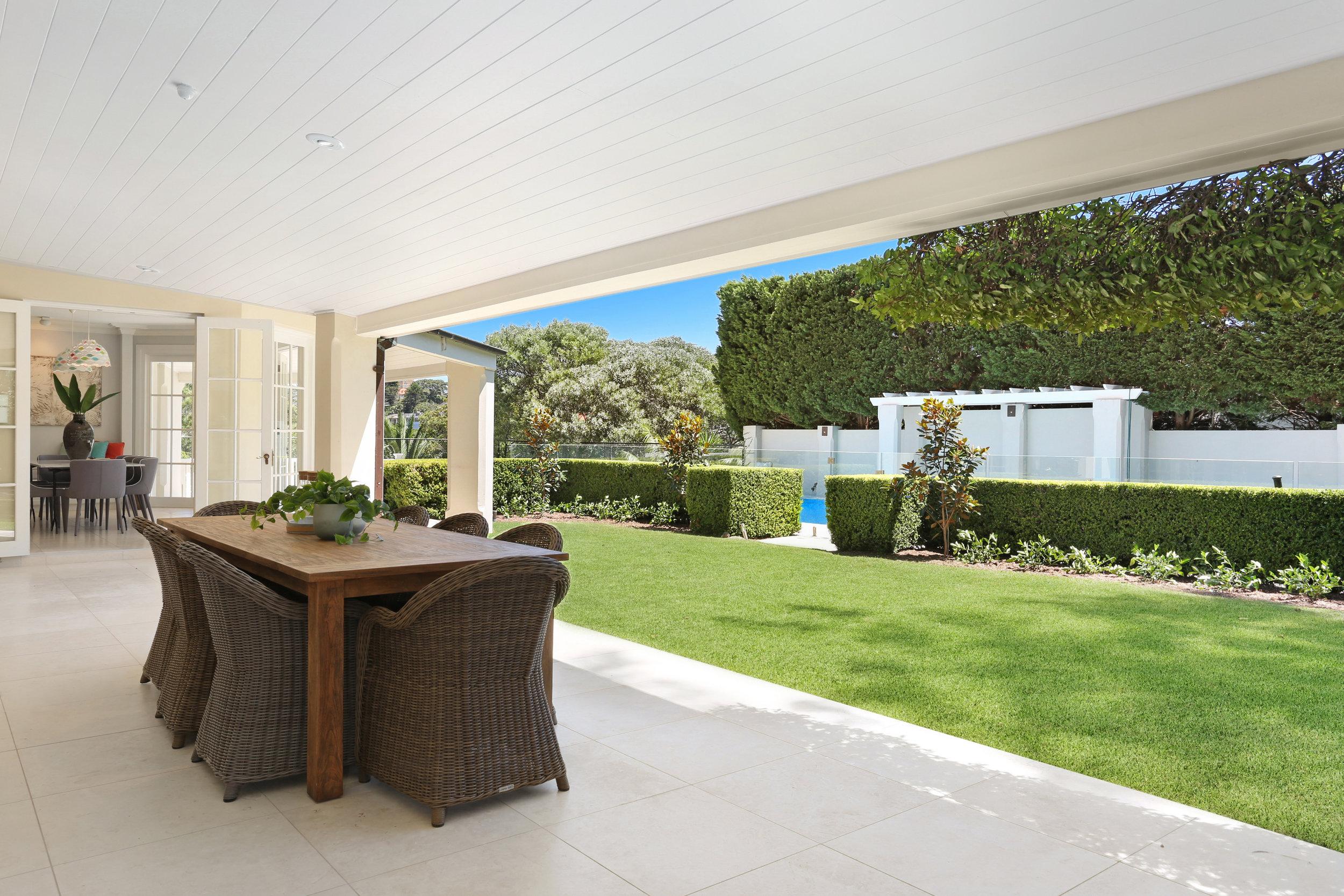 Indoor/outdoor luxury living at 14a Lennox St, Mosman  Michael Coombs/  McGrath Mosman