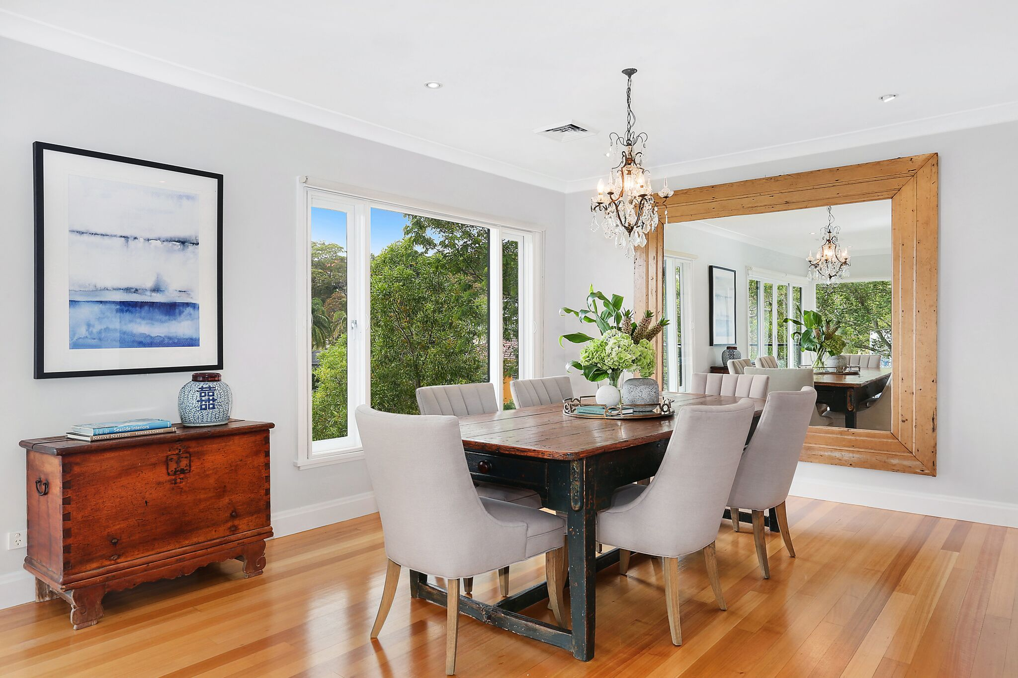 The stylish Hamptons inspired home has a price expectation of between $5.5m-6m.