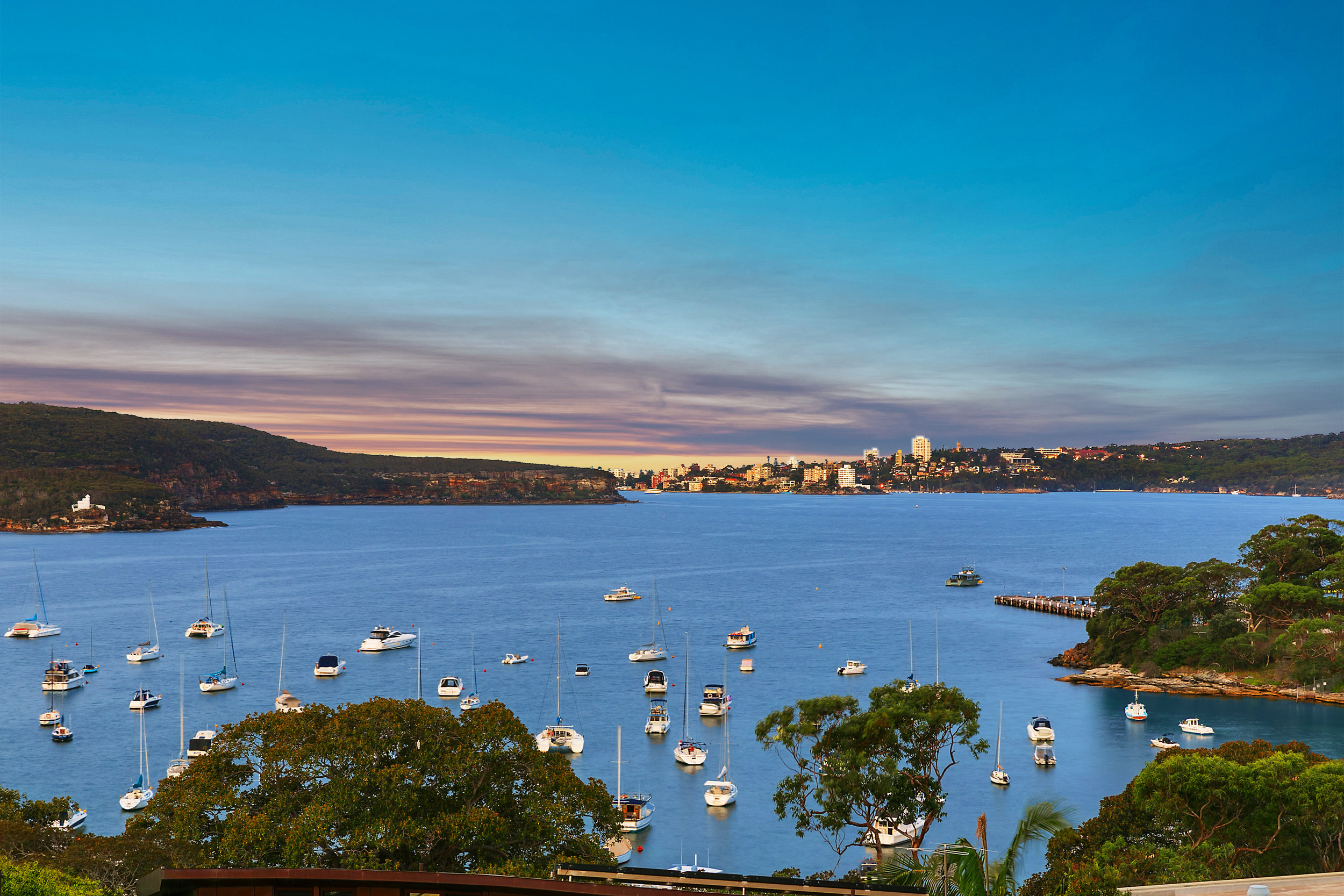 The spectacular view from 9 Plunkett Rd, Mosman.