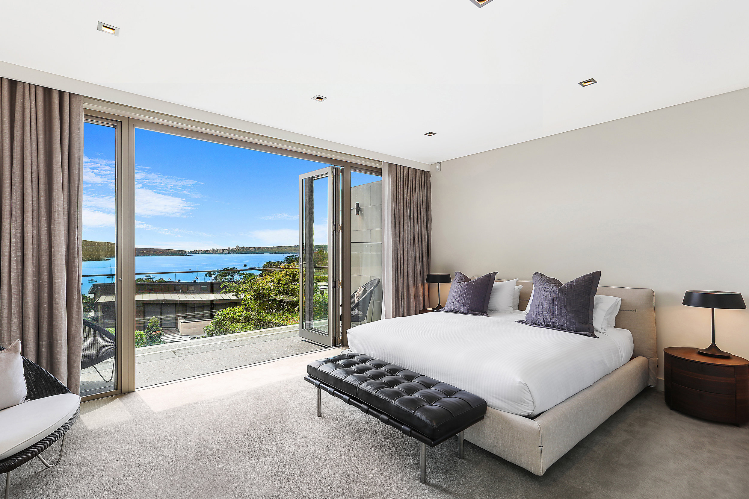 The master bedroom with it's magical view.