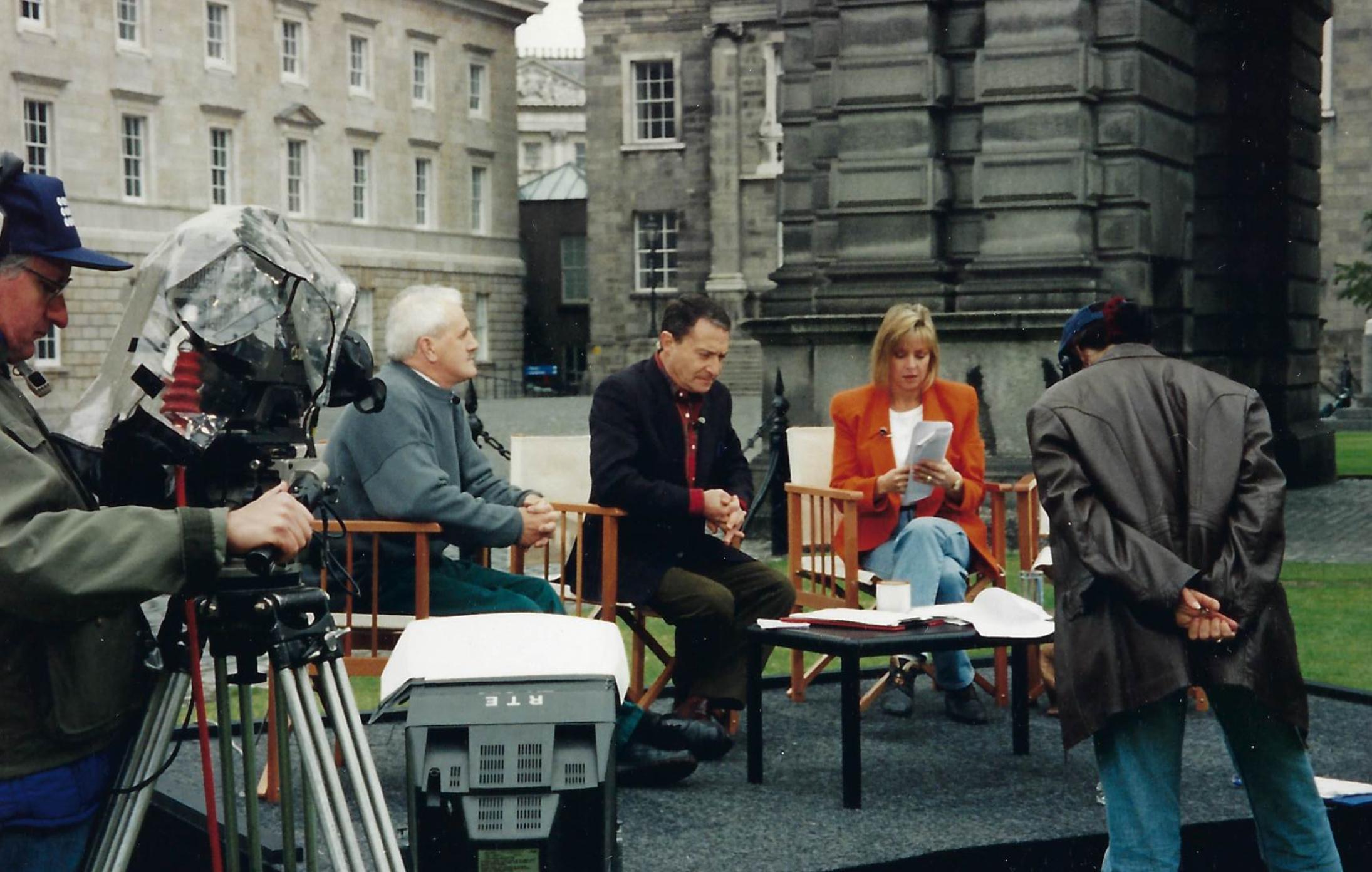 Steve and Liz Hayes on set in Ireland.