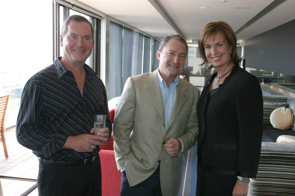 """""""Rosco"""" pictured here with Steve and Tracy Grimshaw."""