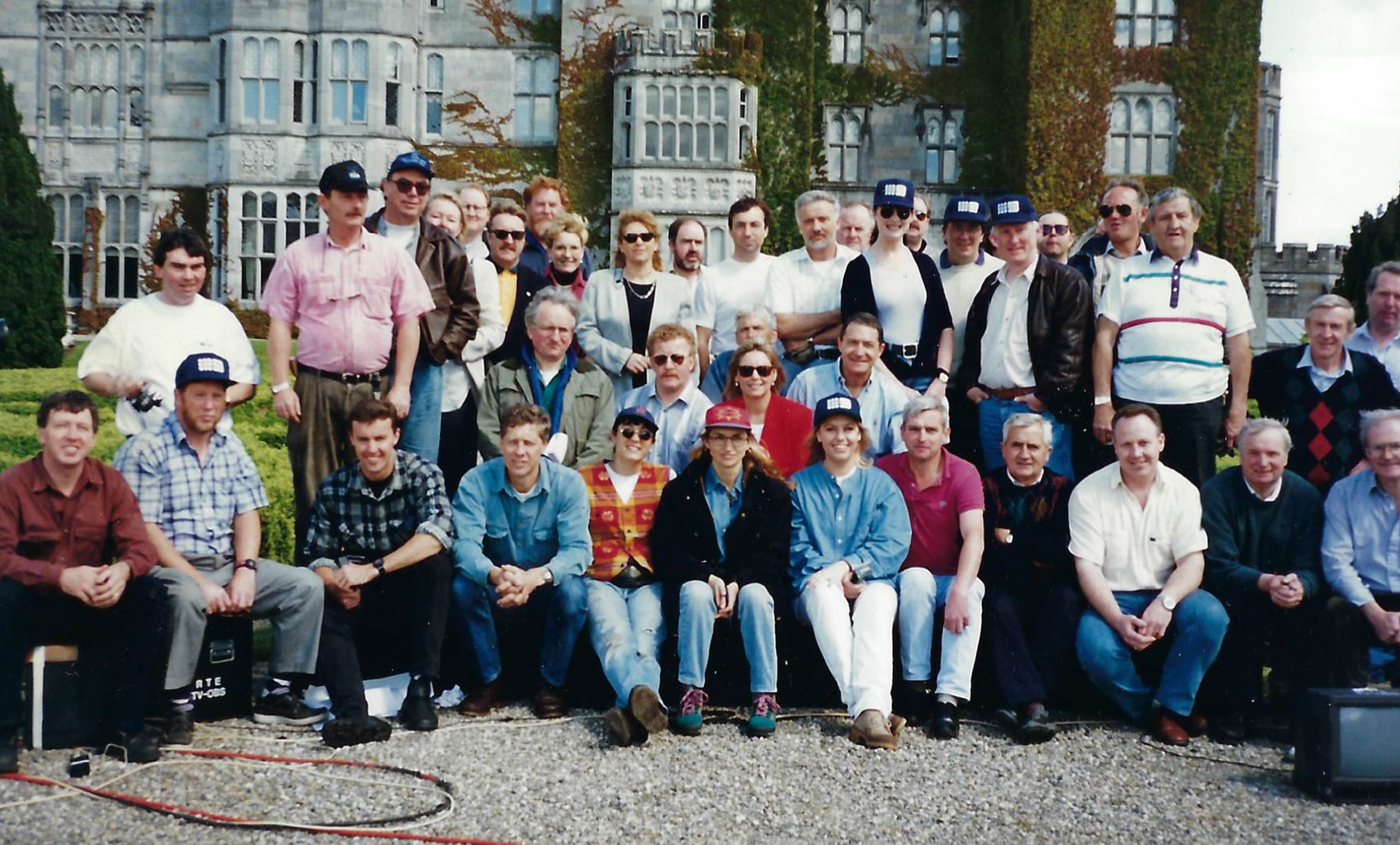 The entire TODAY team once travelled around the world, on Outside Broadcasts. Pictured here in Ireland is Steve Liebmann and Liz Hayes (middle) and a young Anna Usher in the front row!