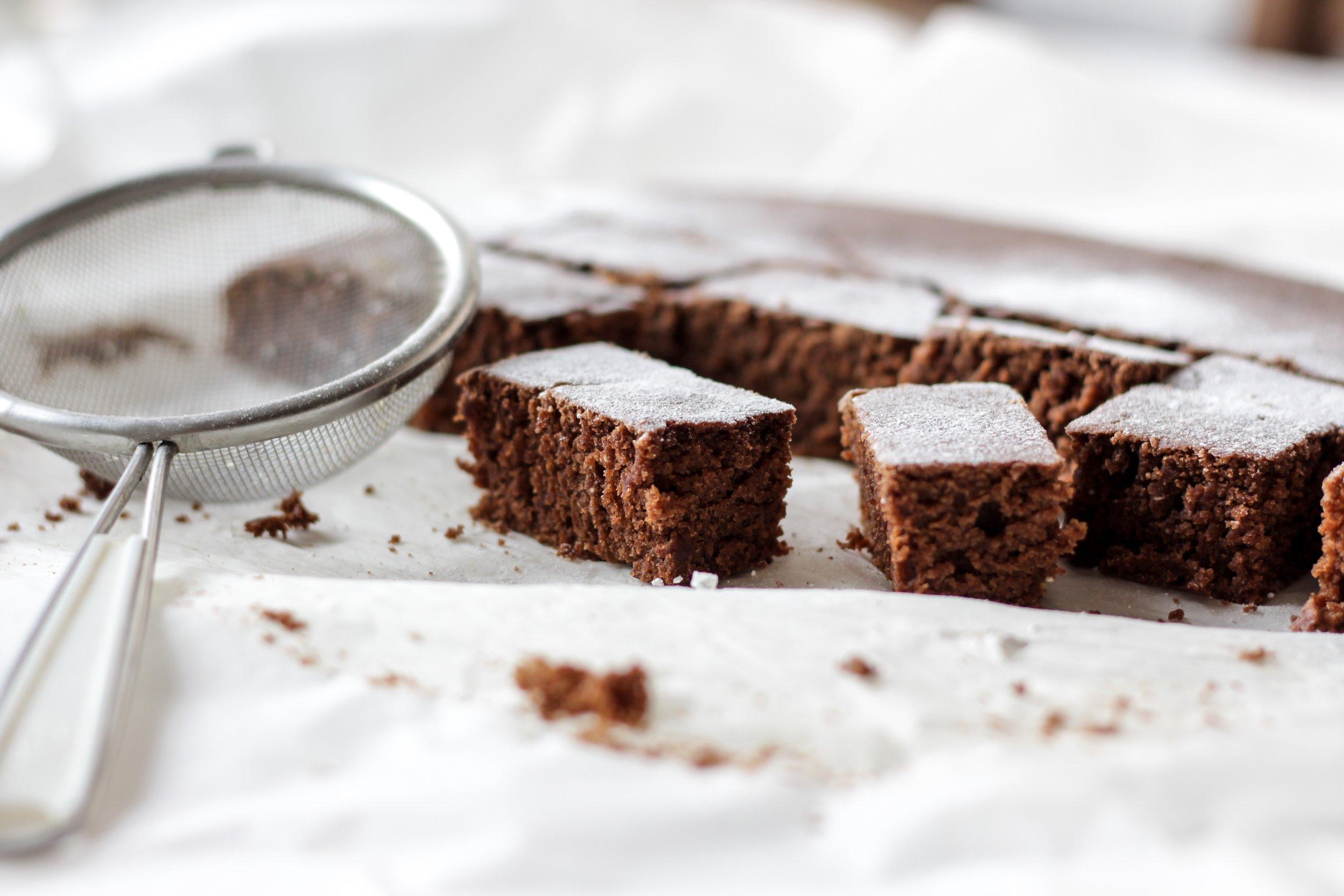 Steve's favourite midnight snack? Chocolate cake!