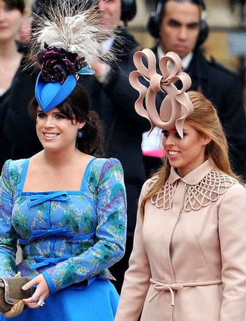 Princesses Eugenie and Beatrice -
