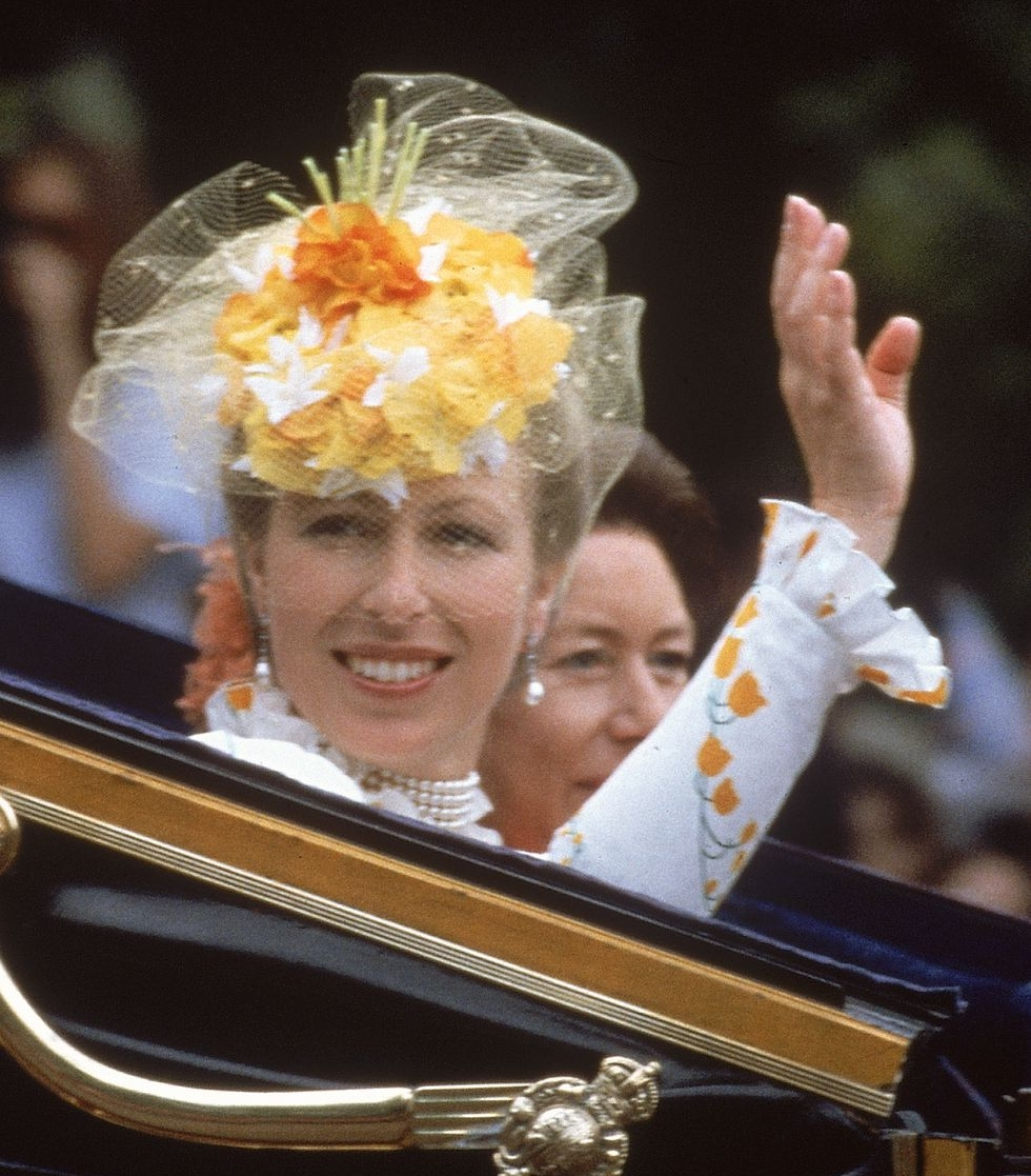 Princess Anne - Both Carolyn and Ann have nominated this hat as one of their Royal favourites.Worn to the wedding of Prince Charles and Diana Spencer in 1983, this yellow creation from designer John Boyd is