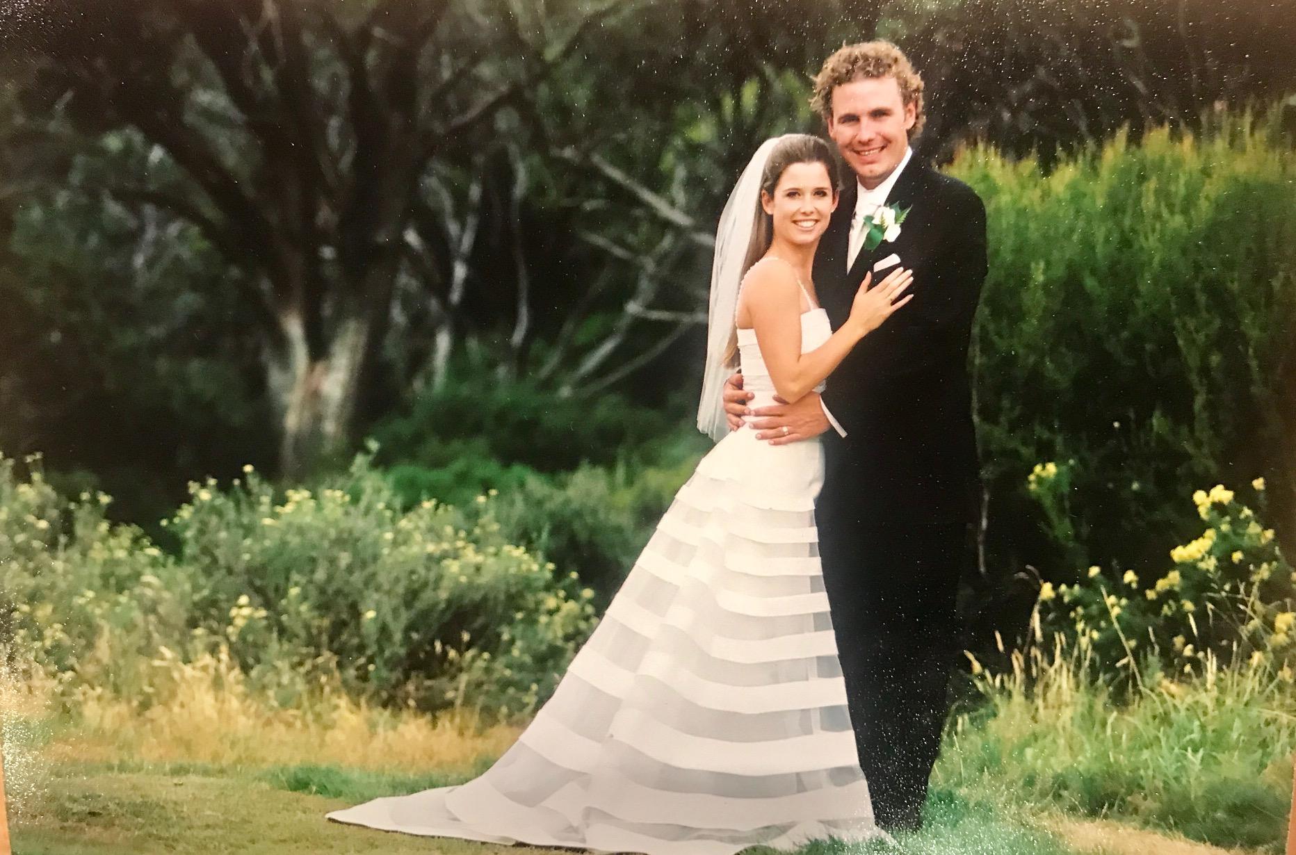 Amber Higlett and Chris Sherlock - Nine News Presenter Amber Sherlock married her husband Chris on March 8th, 2004 in Thredbo.