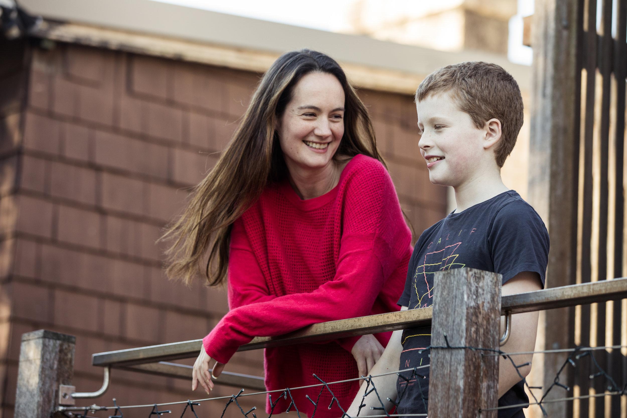 Jett Thompson and mum Anna.