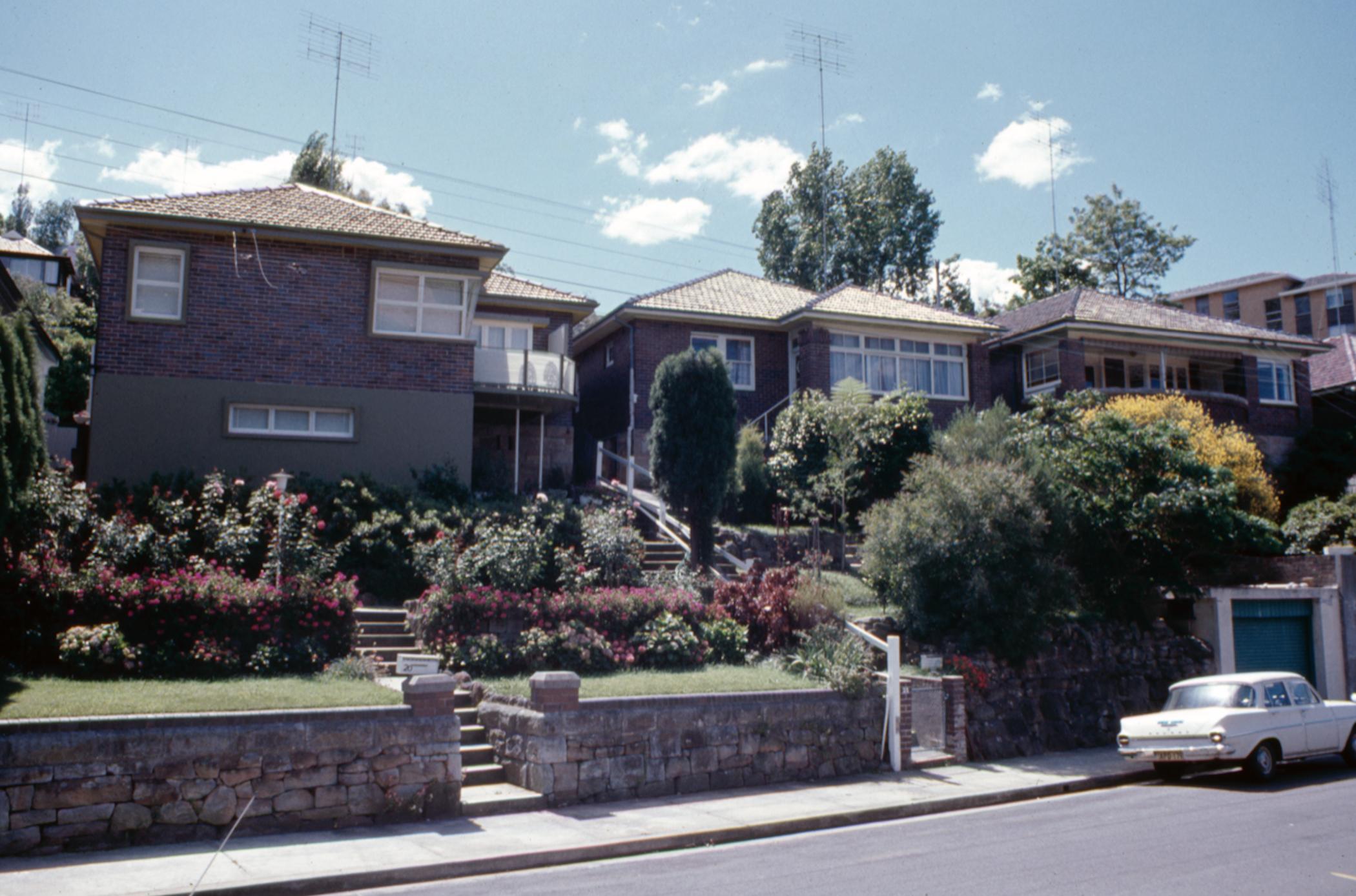 Botanic Rd, Mosman in the 1970s.