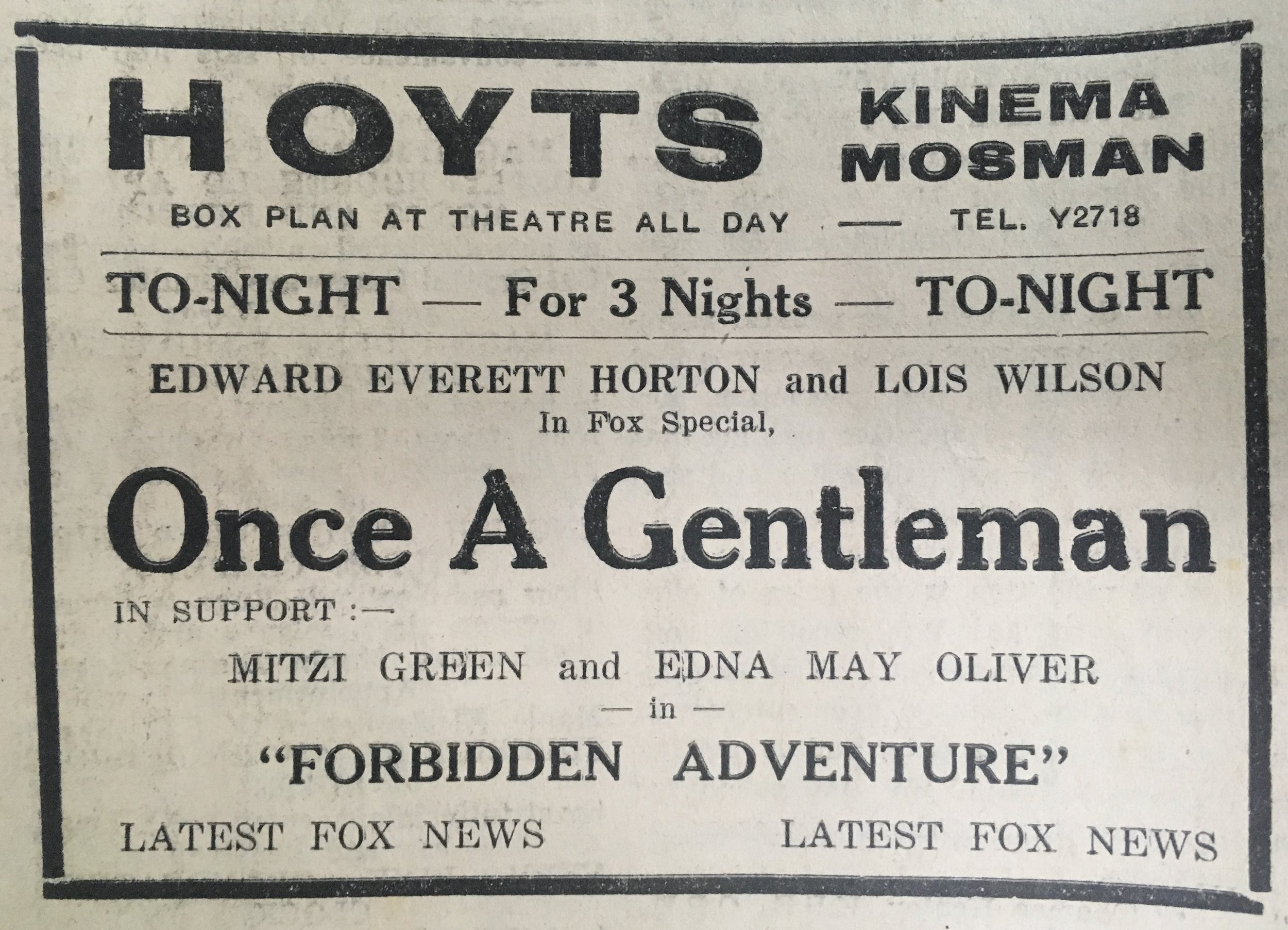 Hoyts Kinema advertisement.JPG