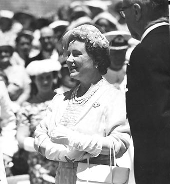 The Queen Mother at HMAS Penguin in 1956.