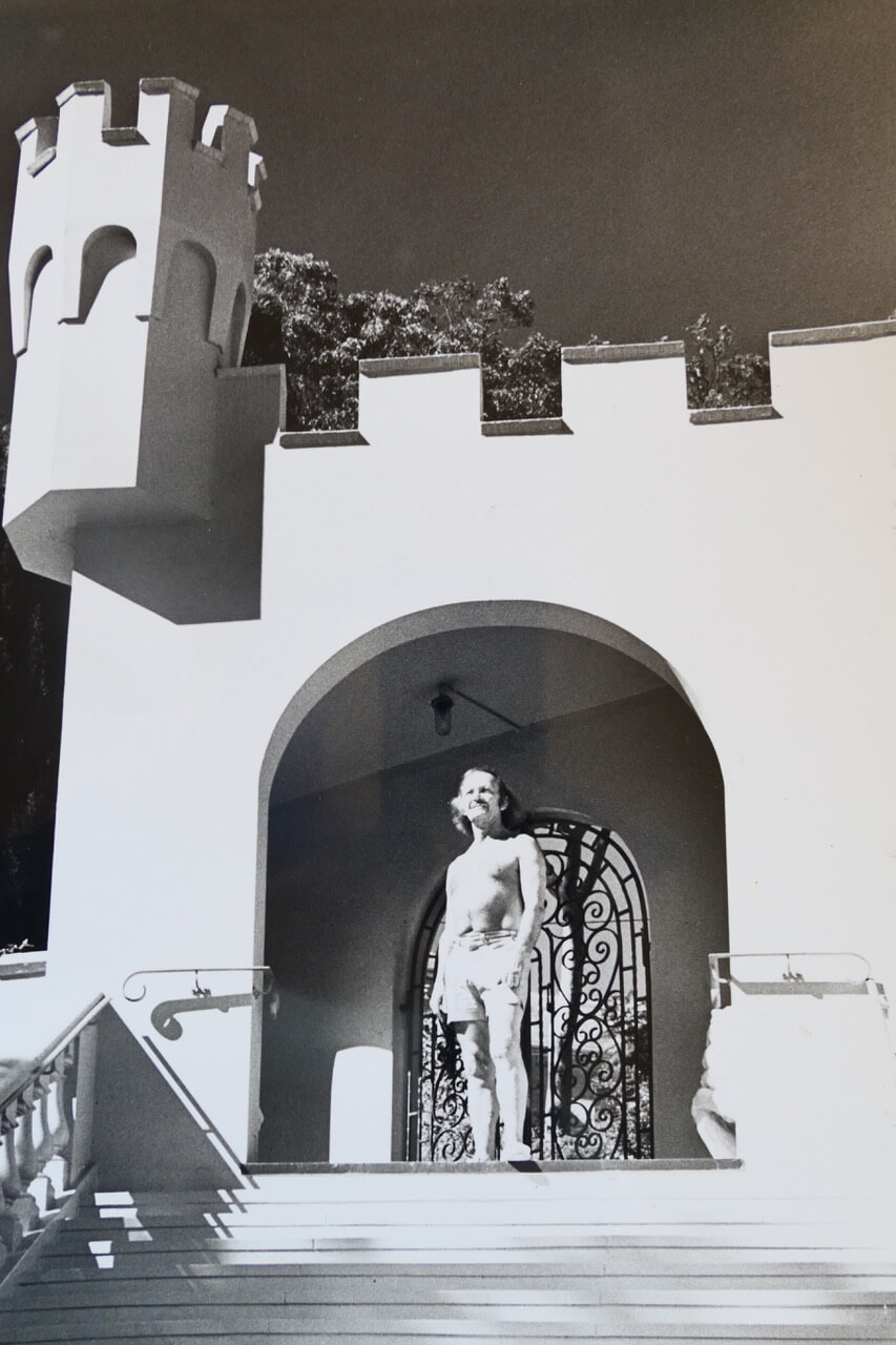 One man and his castle - Vivian Chalwin late 1970s.jpeg