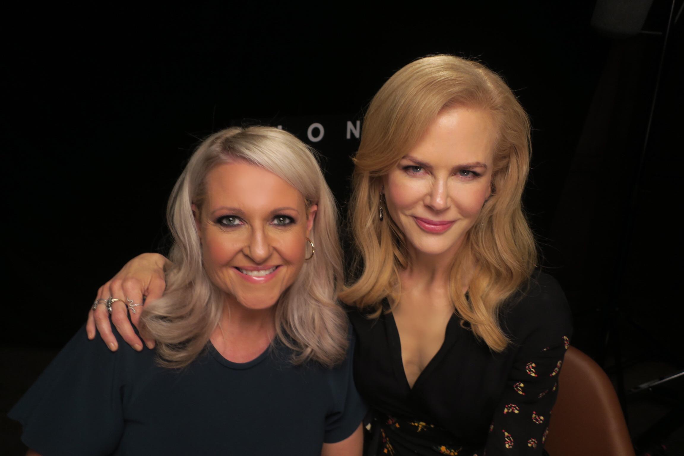 Mosman's Angela Bishop and Nicole Kidman, pictured last year.