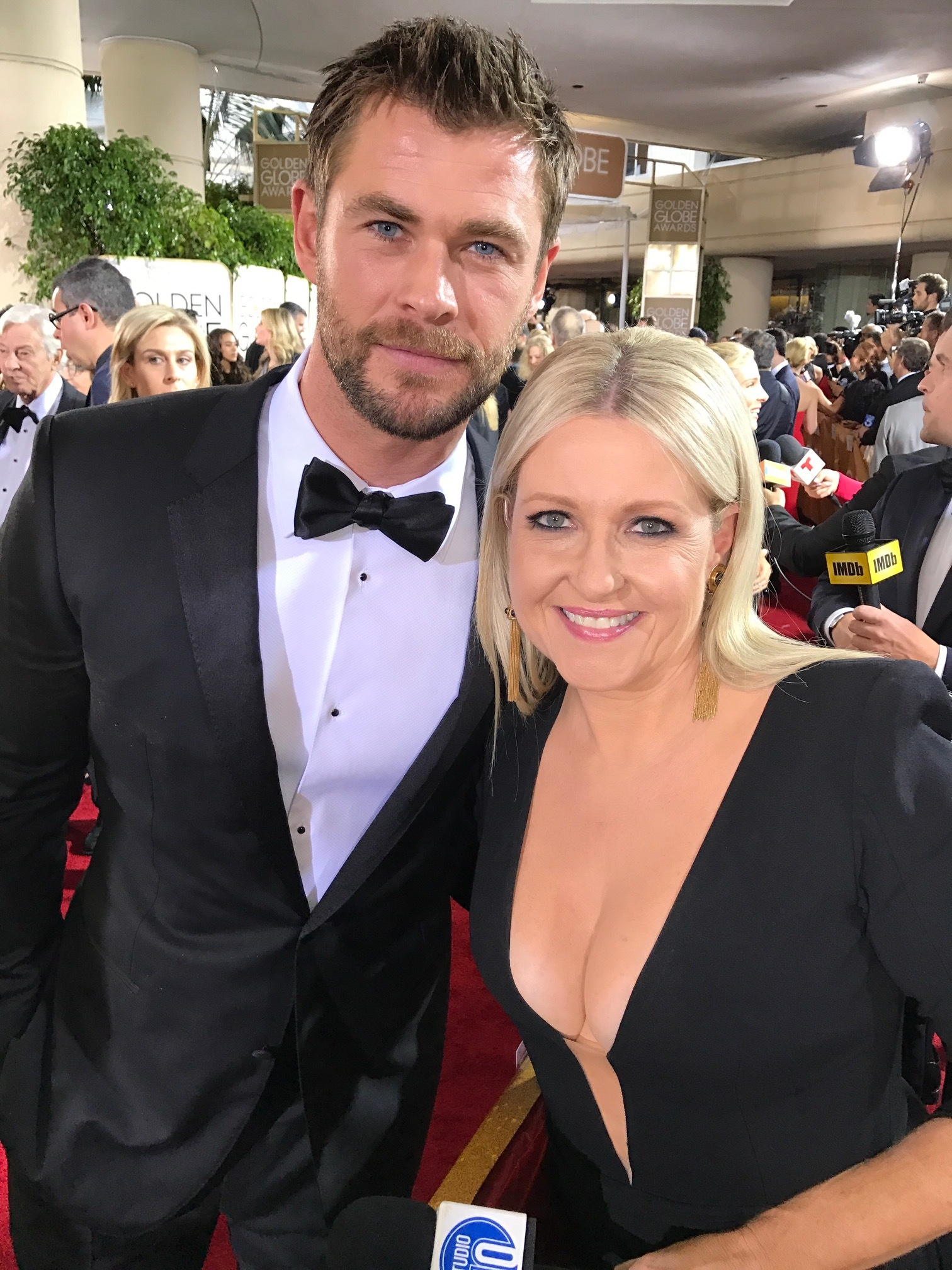 Angela Bishop and Chris Hemsworth