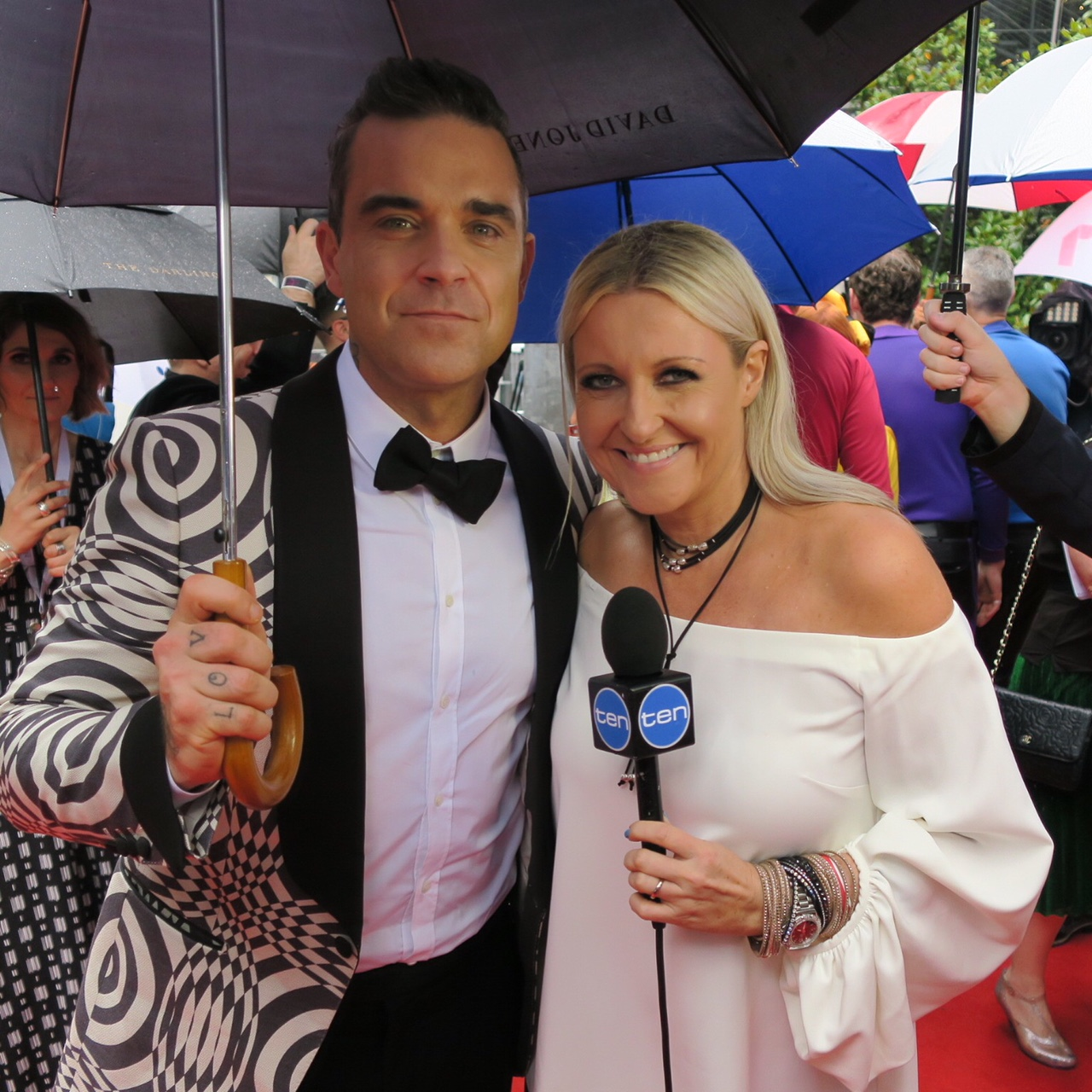 Ang and Robbie Williams.