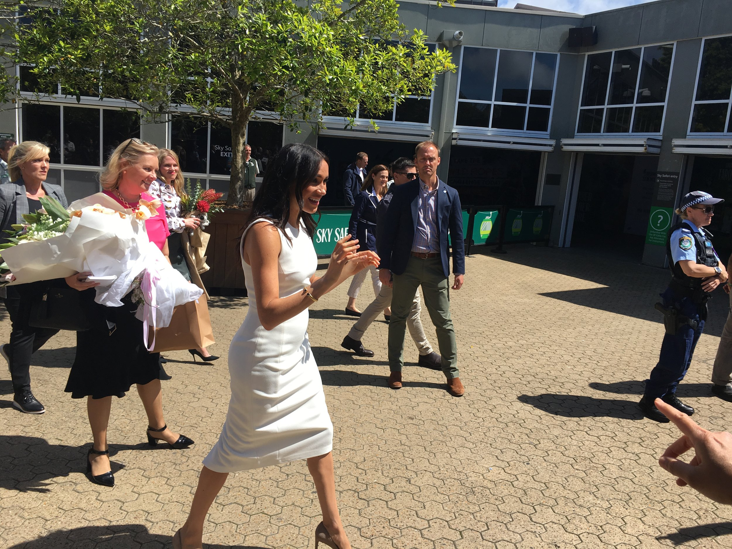 Surprise moment! Meghan breaks away from the Royal entourage to meet excited Mosman residents.